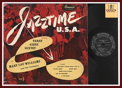 "Terry Gibbs Sextet and Mary Lou Williams ""Jazztime U.S.A."" Brunswick Records BL 54000 vinyl record album JAZZ LP"