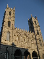 The Basilica Notre Dame in Montreal.