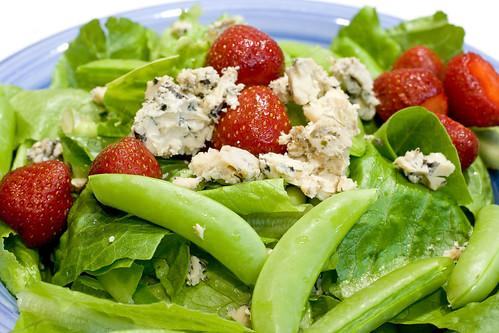 Strawberry Snap Pea Salad