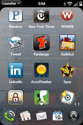 Palm Pre - my apps