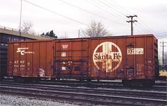 ATSF 152270 Richmond VA Mar 12, 2000 (cogp39) Tags: trains rollingstock atsf freightcars