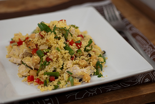 Curried Couscous with Grilled Chicken Breast