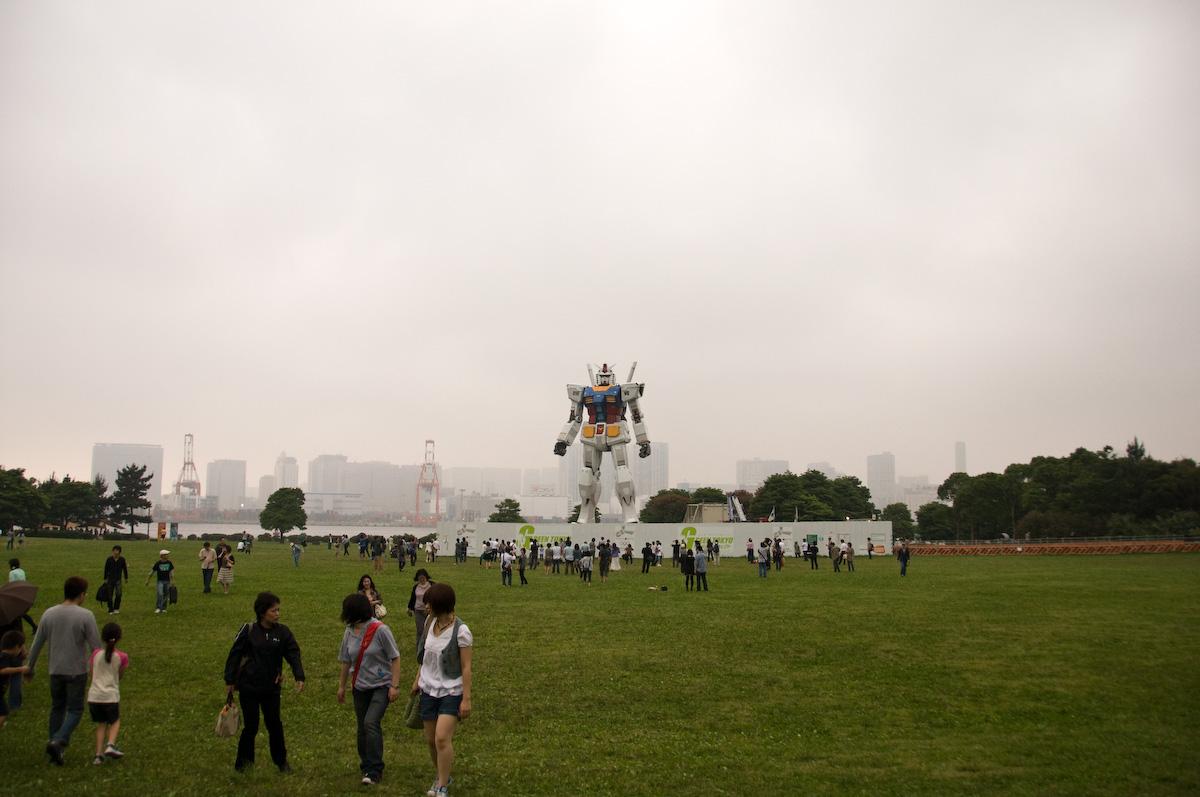 Gundam tamaño real Tokio Japón