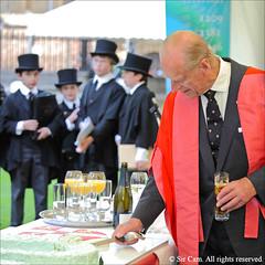 Happy Birthday, Cambridge (Sir Cam) Tags: cambridge cake university senatehouse chancellor kingscollege 800 dukeofedinburgh lightblue princephilip choristers choirboys fitzbillies sircam 800thanniversary honorarydegrees