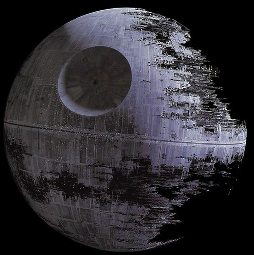 According to Architects Journal, the second Death Star evinces a pleasing return to Classical symmetry.