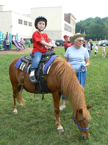 First time riding a pony