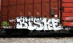 bisket (mightyquinninwky) Tags: railroad geotagged tag tracks indiana railway tags tagged southernindiana explore railcar rails shay spraypaint boxcar graff northwestern graphiti aint gravel trainyard freights trainart paintedtrain freightyard cik railart employeeowned spraypaintart wkt cnw ohiorivervalley explored paintedsteel evansvilleindiana paintedboxcar 156064 biske vanderburghcountyindiana howellarea paintedrailcar geo:lon=87611278 geo:lat=37958546 exploreformyspacestation trainsformyspacestation