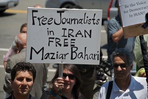 Manifestacion a favor de periodistas en Iran