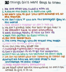 20 Things Girls want Guys to know (linastyle) Tags: cute guy know things want note girlthings