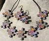 puzzle necklace and earpieces (greti53) Tags: polymerclay fimo schmuck ketten