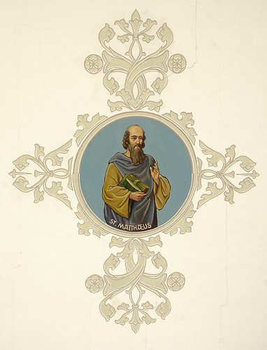 Saint Joseph Roman Catholic Church, in Freeburg, Illinois, USA - ceiling medallion of Saint Matthew