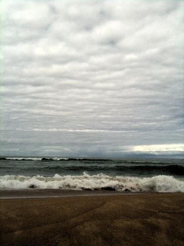 Beach + sea + sky