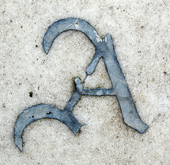 A (chrisinplymouth) Tags: letter capitalletter alphabet cw69x a aa cemetery oneletter lettera xsquarex