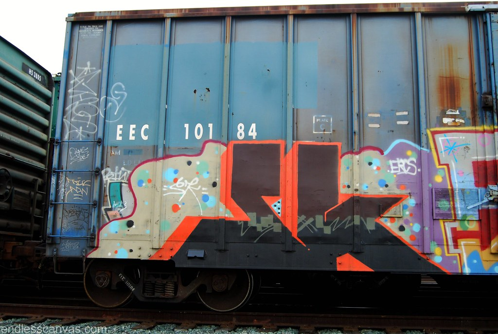 SK Freight Train Graffiti, CA.