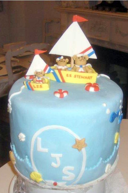 baby shower - baby boy - teddy bear / sailing