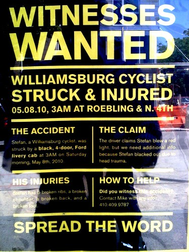 Williamsburg Cyclist Struck & Injured