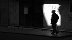 . (Mario M.) Tags: street light shadow people man palermo bnvitadistrada
