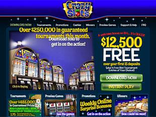 Crazy Slots Casino Home