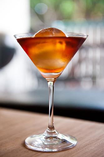 A Manhattan cocktail.