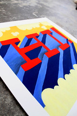 Hi print (tad carpenter) Tags: sun color illustration painting print design robot bright fox whimsical tadcarpenter