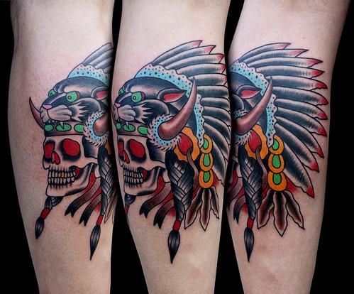 Tiger Headdress Tattoo Indian Headdress Tattoo