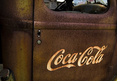 Company truck (hutchphotography2020) Tags: window truck rust lock coke cocacola corrosion truckdoor flickraward