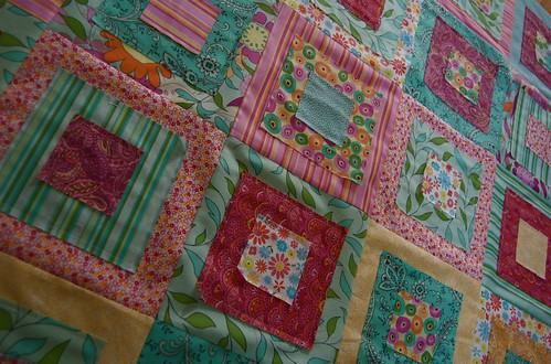 ragged squares quilt top 1