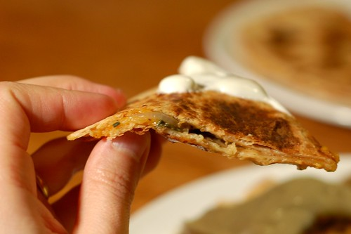 Spinach-Onion Quesadilla