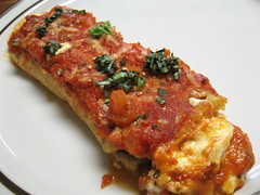 Eggplant and Four-Cheese Cannelloni