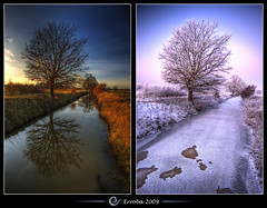 Autumn & Winter @ Het Broek, Mechelen, Belgium :: HDR (Erroba) Tags: autumn winter white snow tree ice photoshop canon rebel frozen frost belgium belgique tripod belgi sigma naturereserve tips remote brook 1020mm erlend hdr mechelen cs3 3xp photomatix tonemapped tonemapping xti 400d hetbroek erroba robaye erlendrobaye