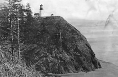 Cape Disappointment lighthouse at Fort Canby, ...