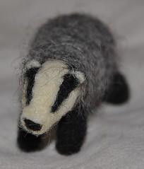 Felted Badger