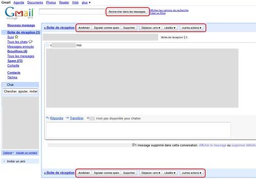 Nouveaux changements graphique sur Gmail