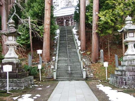 善寶寺~参道の石段