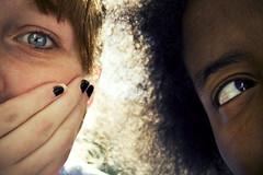 (morgan.laforge) Tags: blue brown sun black eyes afro polish fingernail