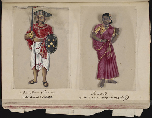 Hindoo fencer - Female, Madura, 1837