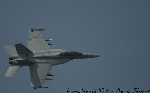 F - 18 in action