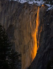 Horsetail Falls mist (Daleberts) Tags: park winter sunset horse strange tail merced falls national yosemite february 2009 horsetail gmt absolutelystunningscapes