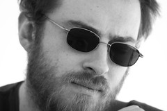 (Shemer) Tags: friends portrait bw man beard glasses michael nb shemer elbidule שמר shimritabraham שימריתאברהם