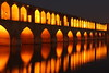 The Si-o-seh Bridge at Esfahan, Iran (Rowan Castle) Tags: travel night river asia iran middleeast persia illuminated esfahan floodlit isfahan zayandeh cotcmostinteresting img4855 siosehbridge infolio coolestphotographers