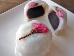 Sakura Jouyo Manju (steamed bean-jam bun) (k-tokyo) Tags: food japan japanese sweet homemade sweets sakura homecooking confectionery manju wagashi manjyu
