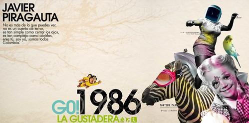 La Gustadera, G0! 1986. DiseЎo revista Vectores by Javier Piragauta.