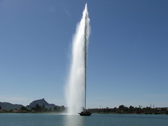 The Fountain at Fountain Hills Park at Noon