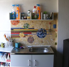 My studio - mosaic backsplash (stiglice - Judit) Tags: studio mosaic mosaicbacksplash