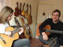 Jess at guitar lesson