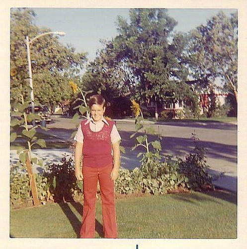 First Day of School- September 1973 Me in that Vintage 70s' attire