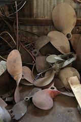 Propellers at Searles Boatyard (Mangrove Rat) Tags: heritage port birkenhead adelaide southaustralia boatyard searles portadelaide portriver heritageatrisk searlesboatyard