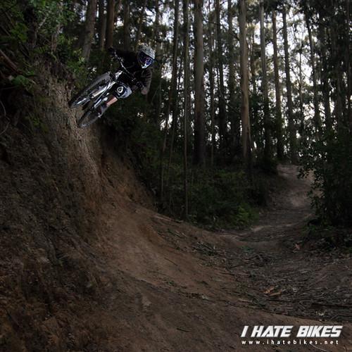 Jason Van Horn on the dirt wallride. Photo: JINGA