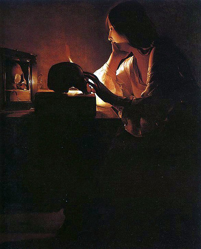 Georges de La Tour-The Repentant Magdalen-National Washington