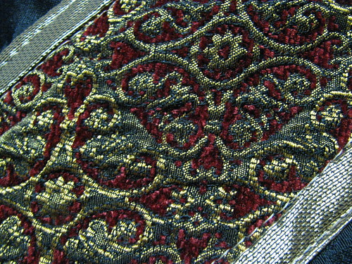 Super Fabulous Red Chenille Brocade
